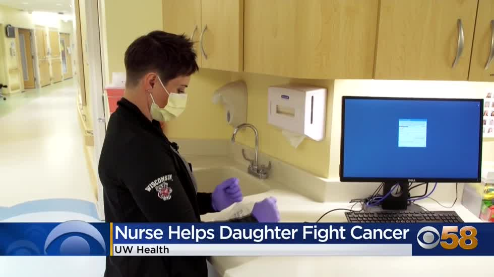 UW nurse helps her 13-year-old daughter fight cancer
