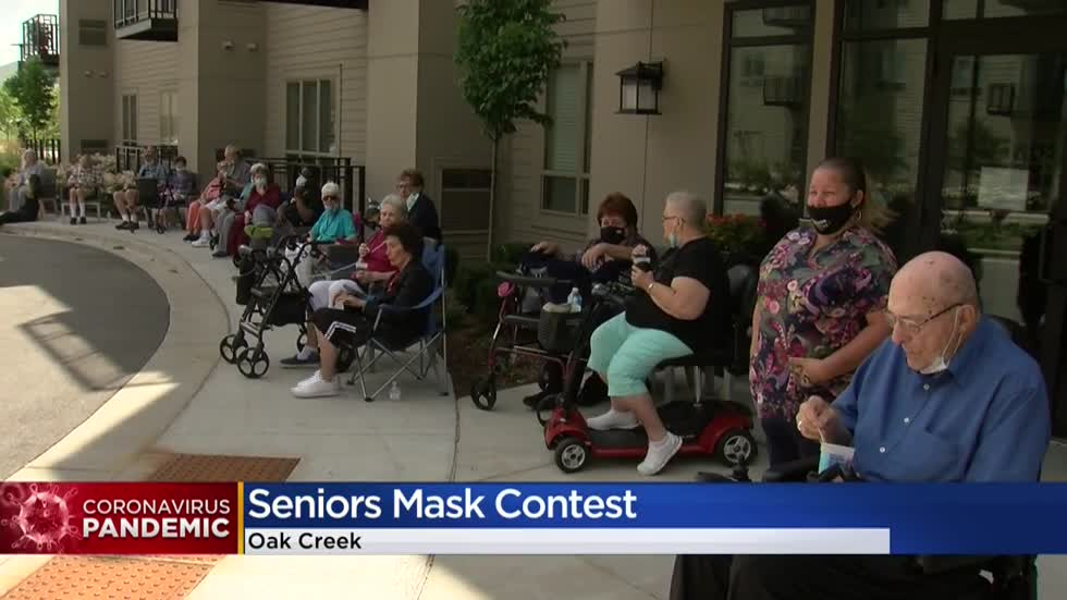 Oak Creek senior living facility hosts mask contest, fashion show for residents