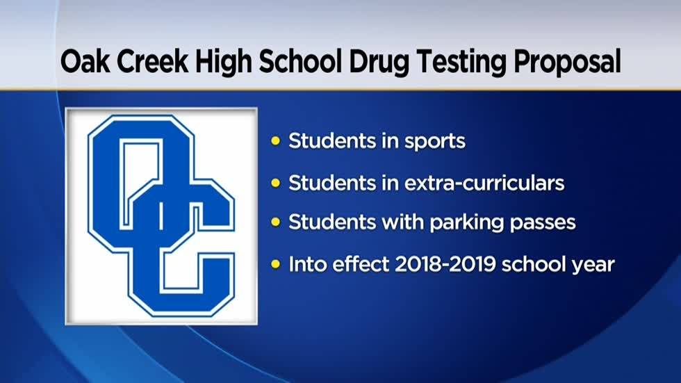 Random drug testing may be coming to Oak Creek High School