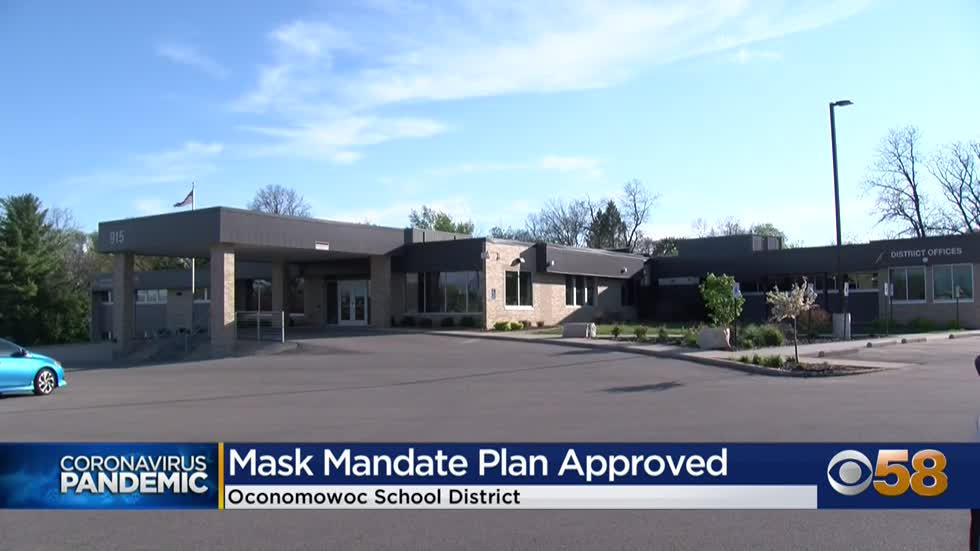 Oconomowoc school board approves plan making face masks mandatory...