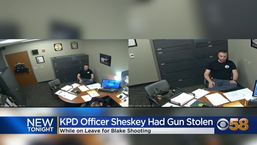 Kenosha Officer Rusten Sheskey lost replacement gun issued after...