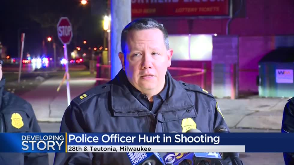Milwaukee police officer shot, suspect dead after chase near 28th and Teutonia