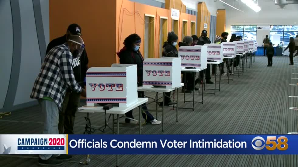Officials warn voter intimidation will not be tolerated at polls