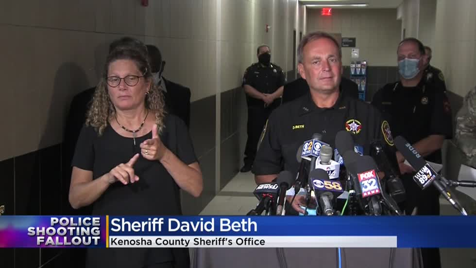 Kenosha officials prepare for weekend, sheriff says he hasn't seen Jacob Blake shooting video