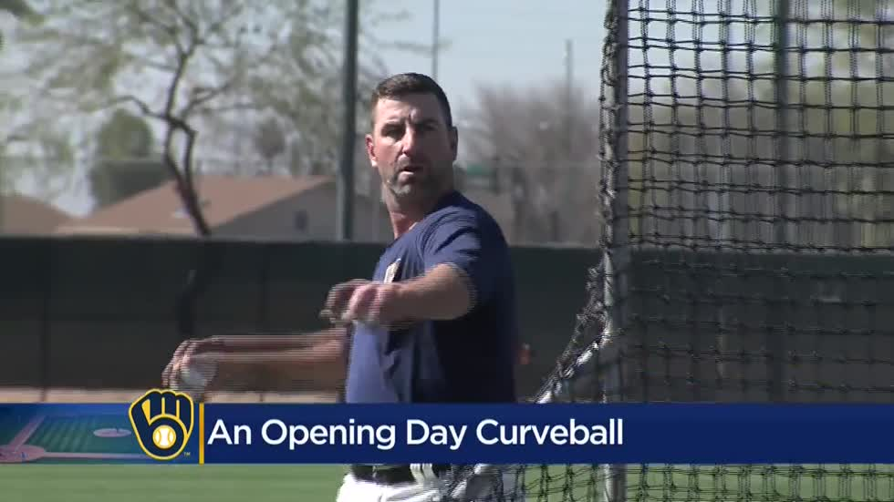 'Never been home in March:' Brewer Marcus Hanel weighs in on postponed opening day