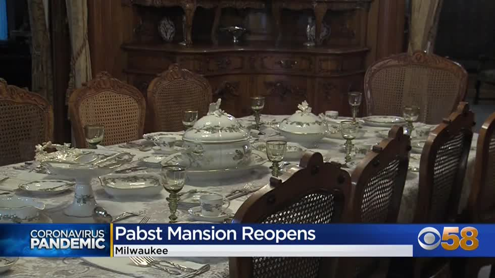 Milwaukee's iconic Pabst Mansion welcomes guests back