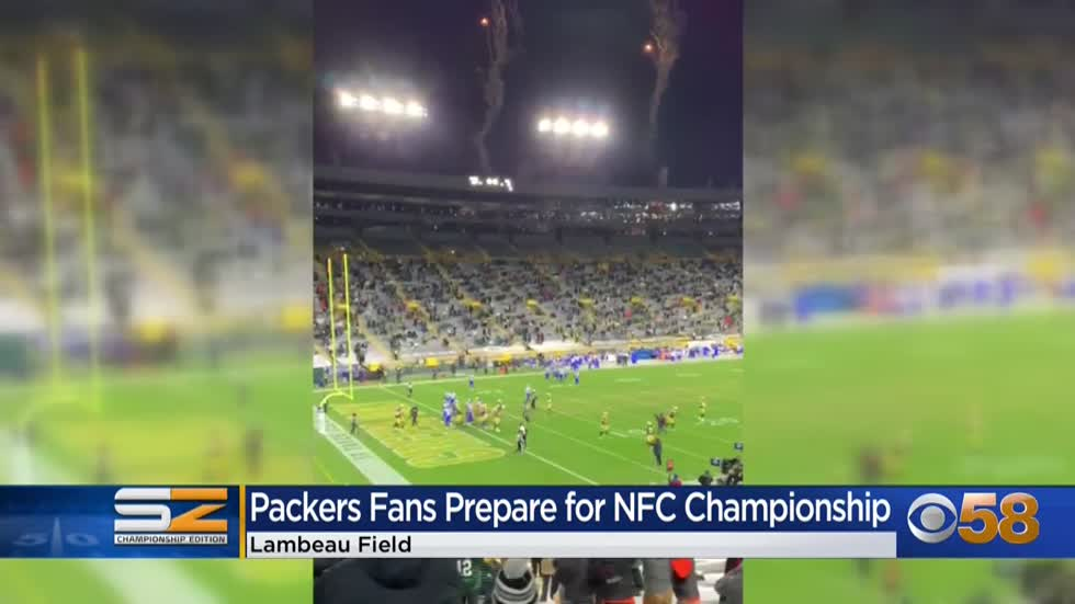 Fans show spirit at Packers Pro Shop ahead of Championship game