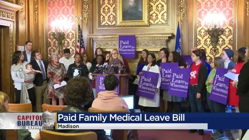 Democratic lawmakers push for paid family leave to become law in Wisconsin