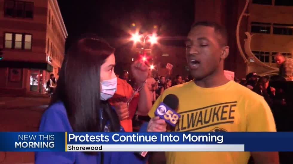 Milwaukee protests continue into early morning for 11th day