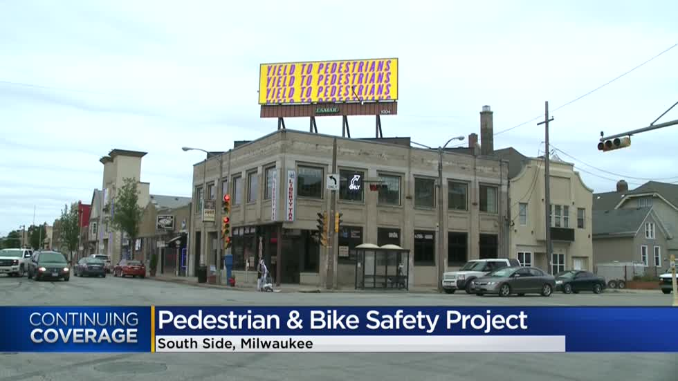 'Yield to Pedestrians:' Residents, advocates push for safer streets on Milwaukee's south side