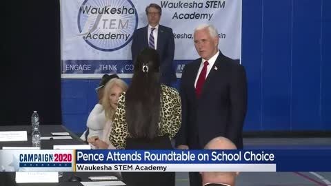 Vice President Pence participates in roundtable discussion at Waukesha STEM Academy