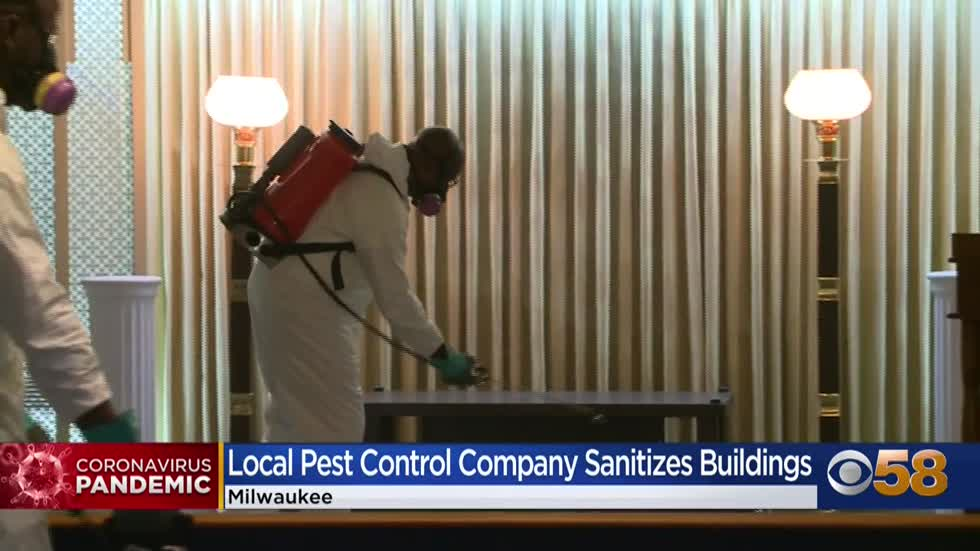 Local pest control company disinfects businesses during pandemic