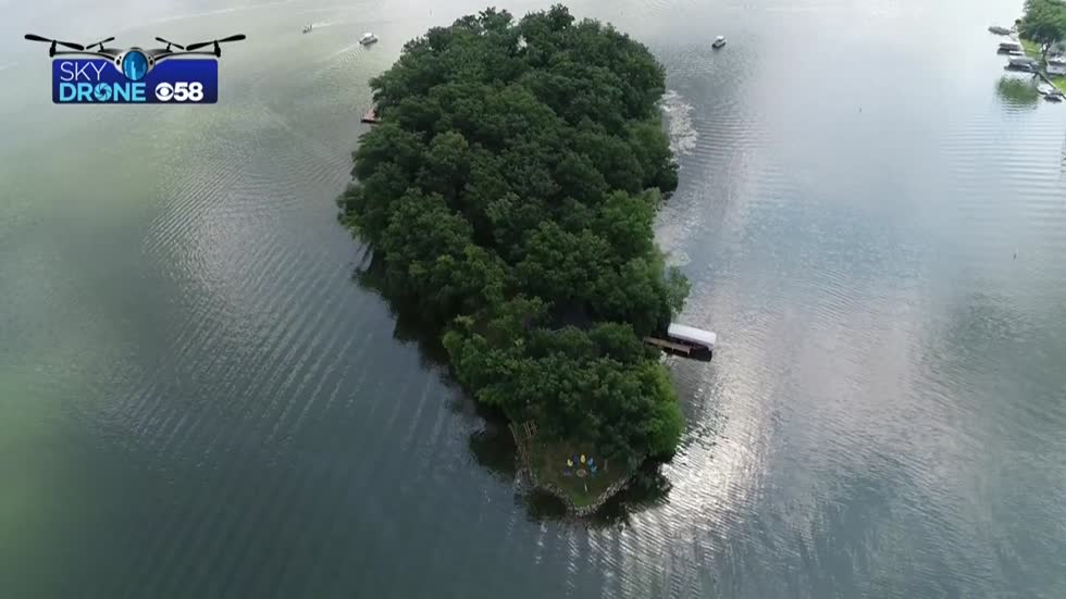 INSIDE LOOK: Tour the private island for sale on Pewaukee Lake