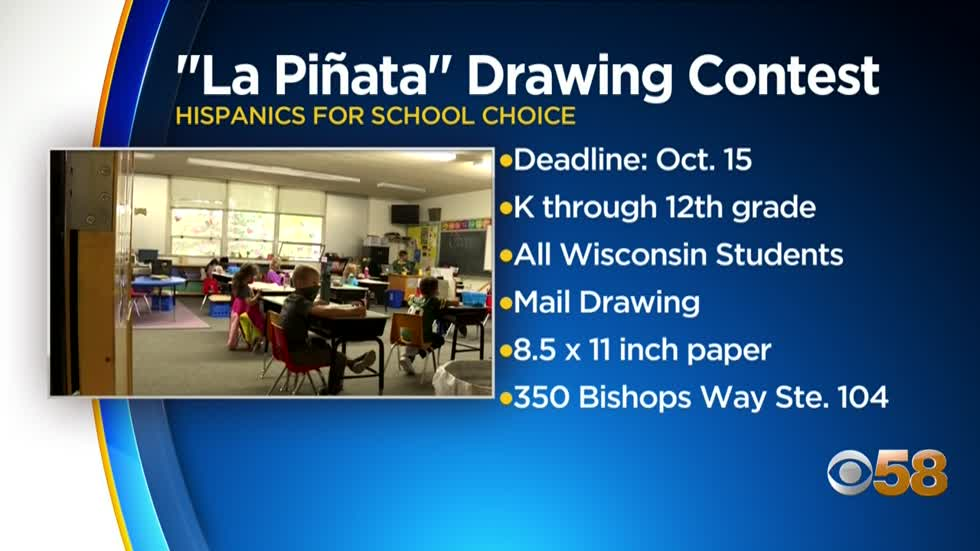 Hispanics for School Choice holds piñata drawing competition for K-12th graders