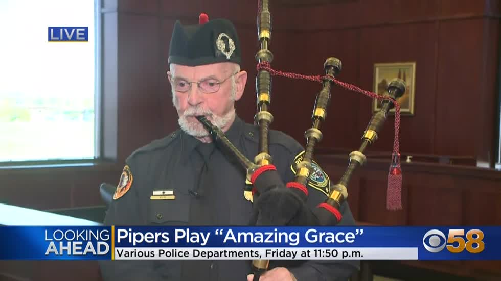 Open invitation to hear pipes sound for fallen officers Friday...
