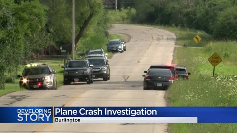 Small plane crashes in Town of Burlington, two seriously hurt