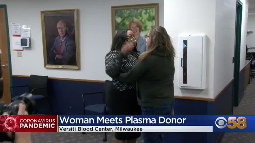 'A second chance:' Recovered COVID-19 patient meets plasma donor in Milwaukee