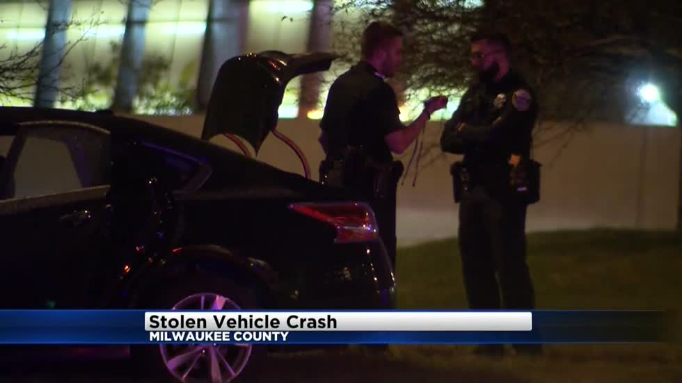 Police take 3 suspects into custody after stolen car chase
