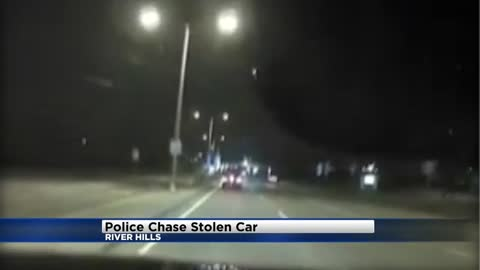 River Hills Police release dash cam of police chase involving vehicle stolen out of Whitefish Bay