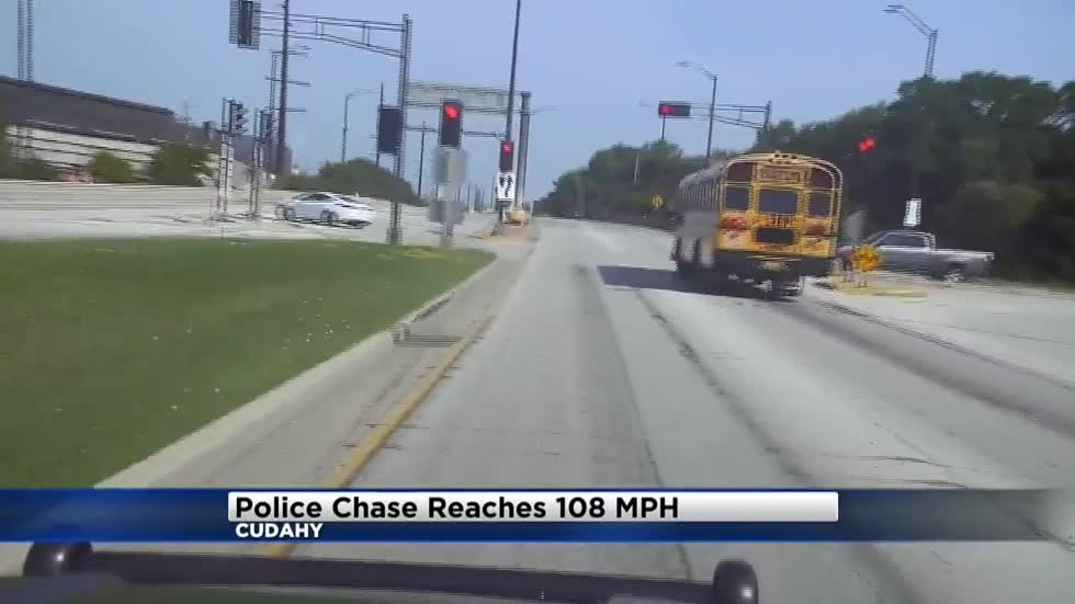 Cudahy Police release video of high-speed chase