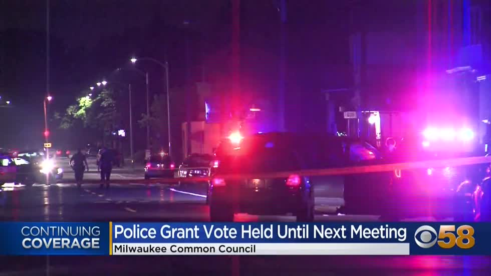 Common council puts Milwaukee police grant on hold