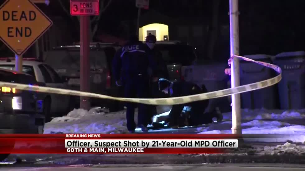 Police: Milwaukee police officer shoots suspect armed with knives, additional officer also struck by gunfire