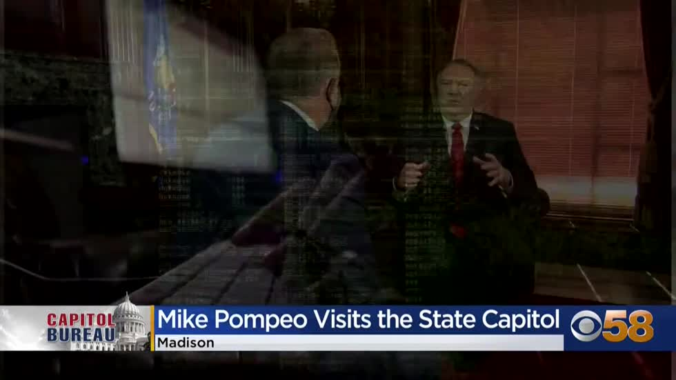 Pompeo delivers speech at state Capitol, warns of Chinese influence...