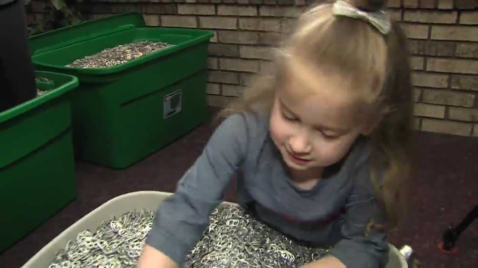 Wisconsin girl collects over 10 million pop tabs