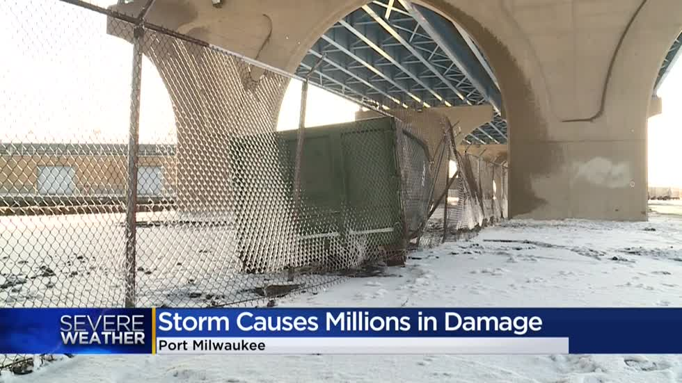 Port Milwaukee officials assess storm damage, seek resources for reconstruction