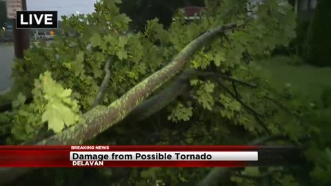 UPDATE: NWS confirms EF0 tornado in Delavan