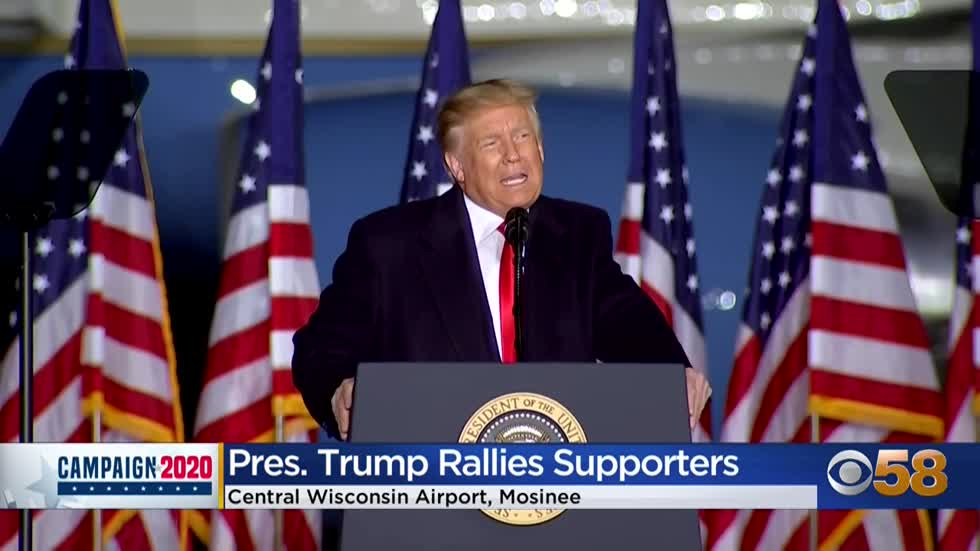 Pres. Trump makes stop in Mosinee as part of 'Great American...
