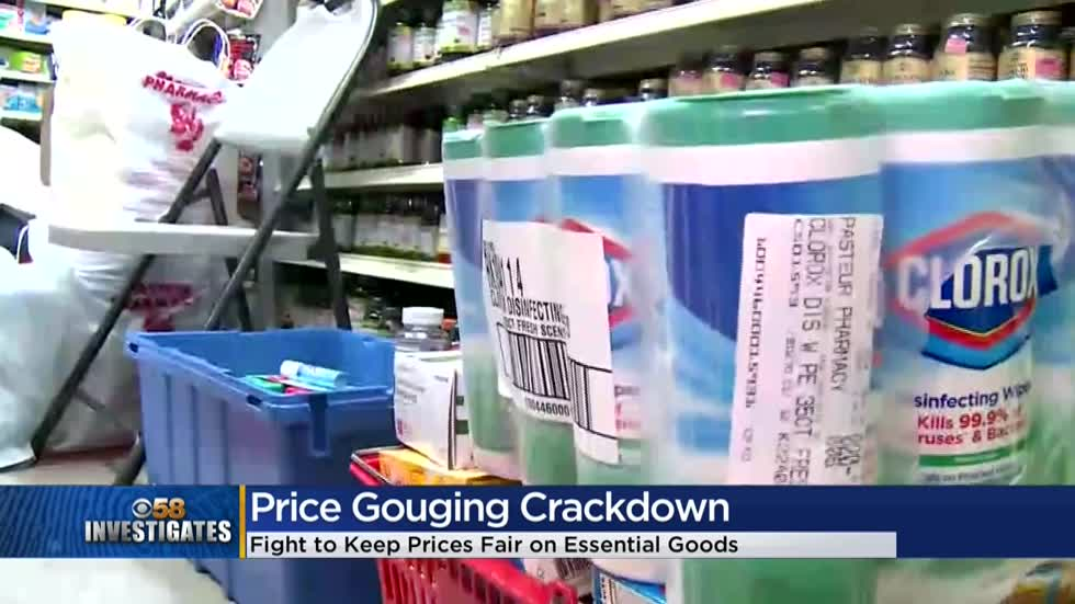 CBS 58 Investigates: State cracks down on price gouging during pandemic