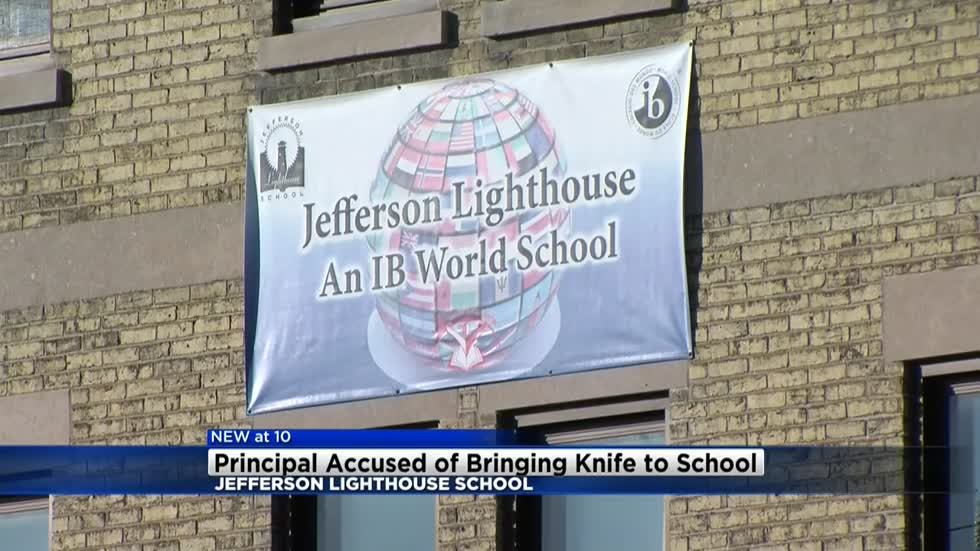 Principal of Jefferson Lighthouse accused of bringing knife to school