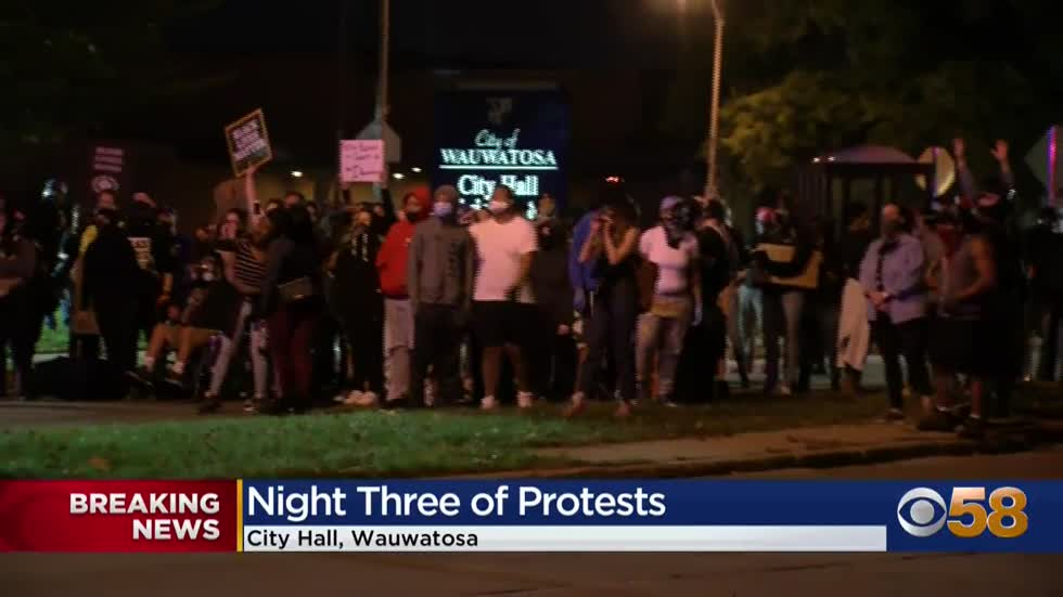 Tear gas deployed, arrests made during third night of protests in Wauwatosa