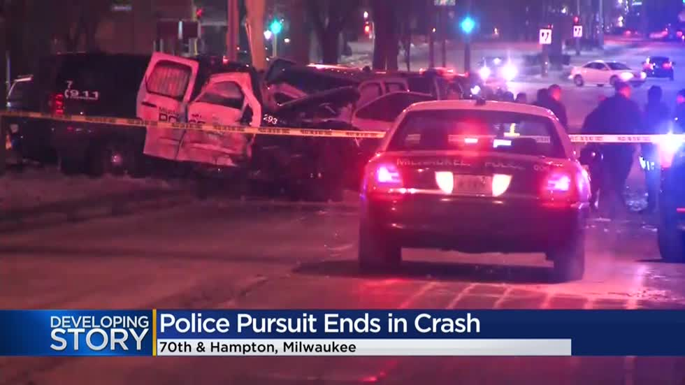 Questions resurface over police pursuit policy after crash injures 2 officers