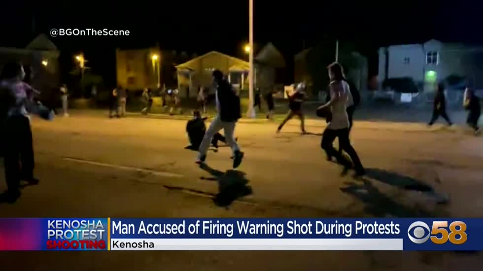 Man charged for firing off 'warning shot' prior to shootings in Kenosha on August 25