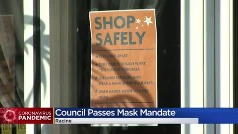 City of Racine narrowly passes mask mandate