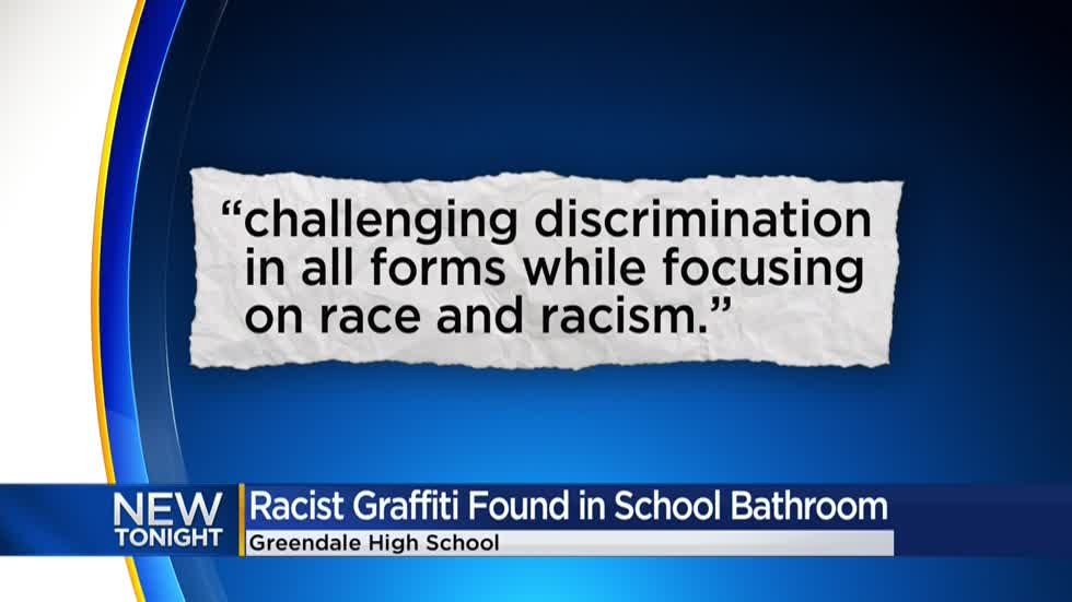 Greendale community responds to racist graffiti at school