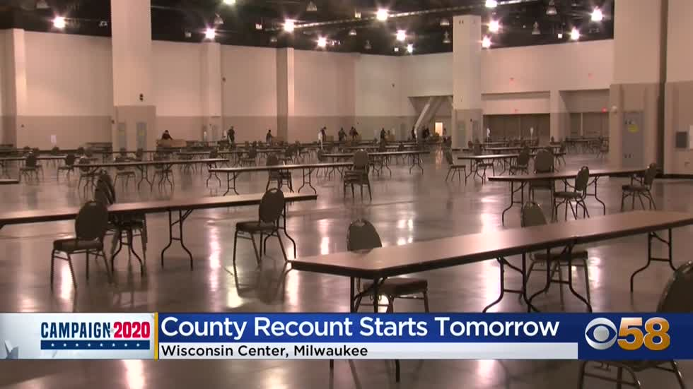 Wisconsin Center prepares for hundreds of election workers, observers for Milwaukee County recount