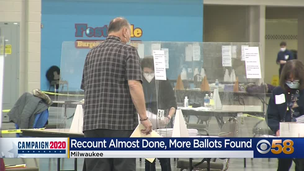 Milwaukee County recount nears completion, with 65 uncounted...