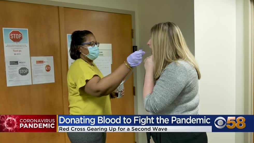 Red Cross blood donations being tested for COVID-19 antibodies...