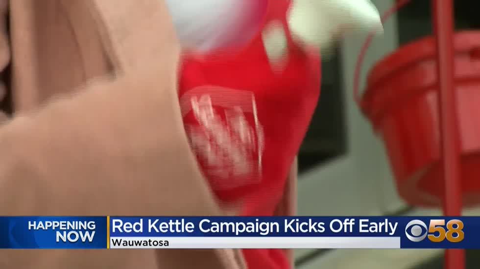 Salvation Army of Milwaukee Co. kicks off Red Kettle Campaign