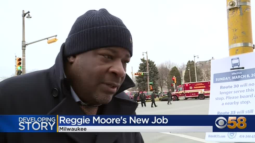 Reggie Moore leaving Milwaukee's Office of Violence Prevention...