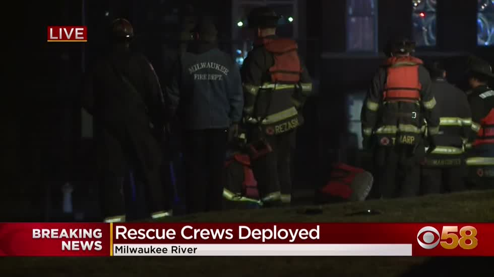 Police pursuit ends in crash along Milwaukee River, 1 believed...