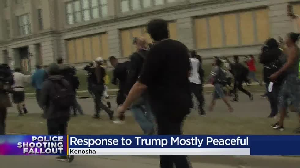 Pres. Trump's Kenosha visit remains mostly peaceful despite tension between supporters, protesters