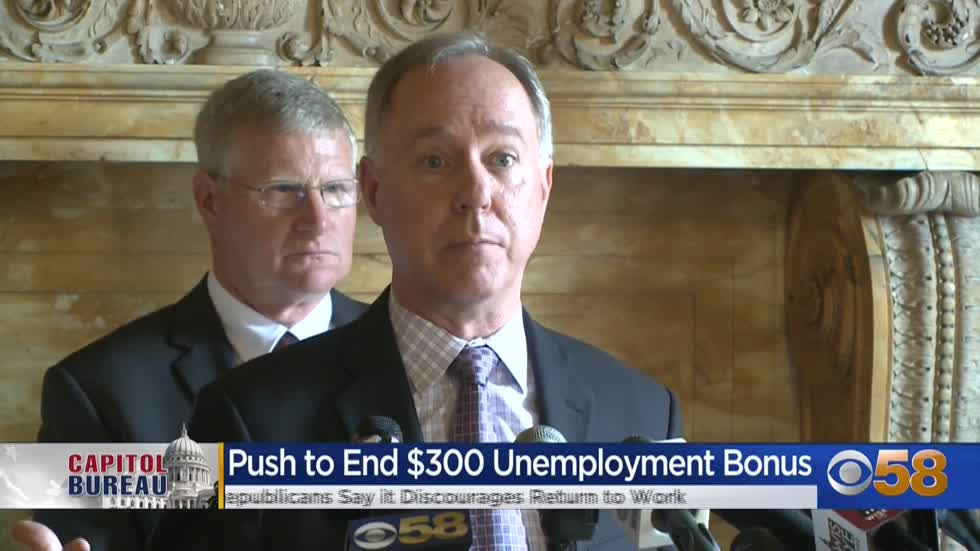 GOP lawmakers want to eliminate extra $300/week federal unemployment...