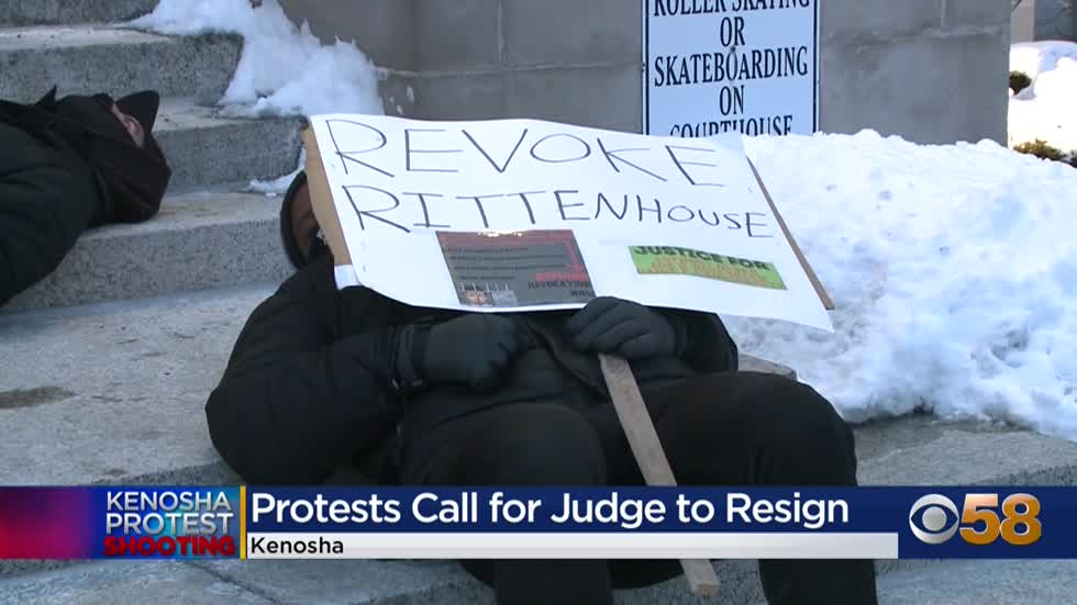Protesters call for Kenosha County judge to resign following Rittenhouse ruling