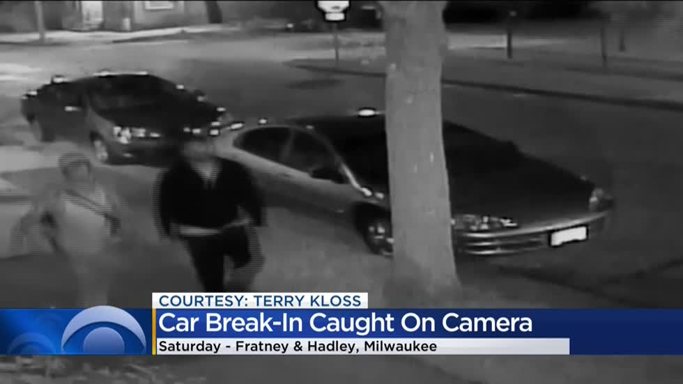 Riverwest car break-in caught on surveillance, police seek suspects