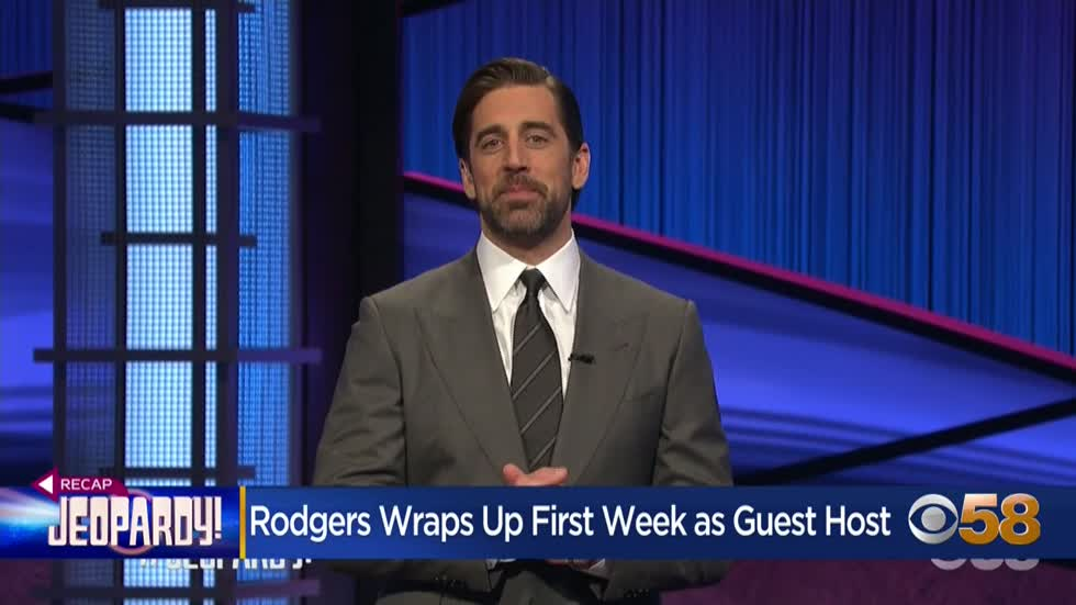 Aaron Rodgers finishes first week on Jeopardy!