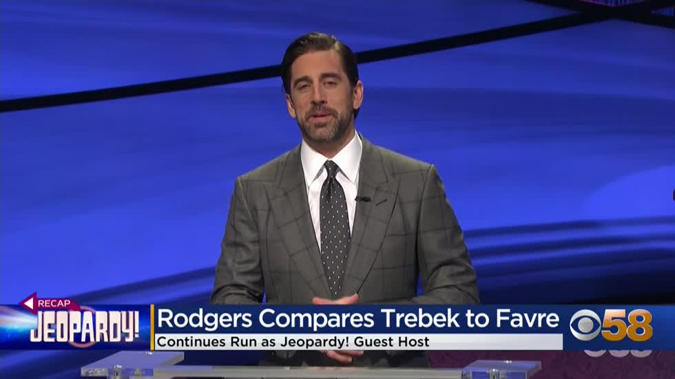 Aaron Rodgers gives a nod to Brett Favre at start of Tuesday's 'Jeopardy!' episode